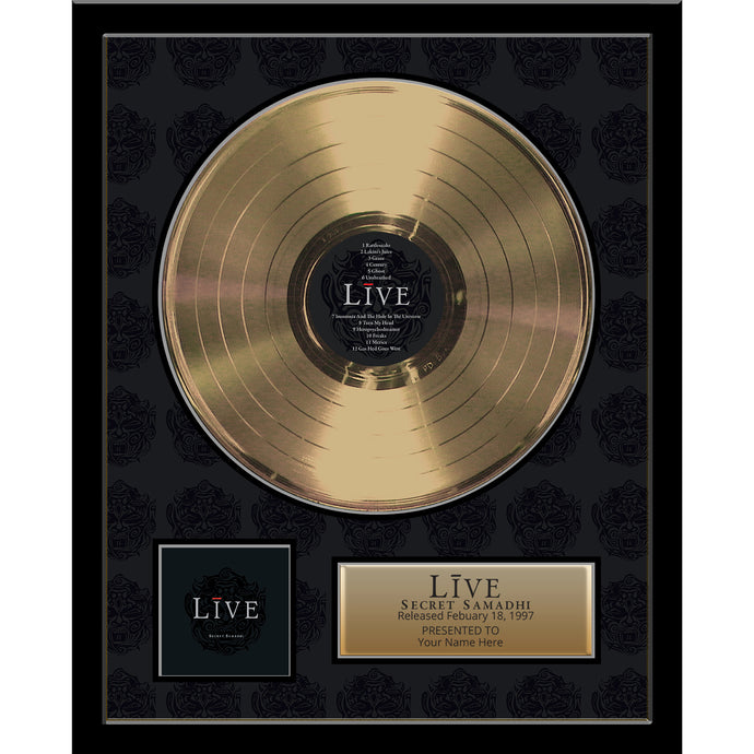 Secret Samadhi Framed Gold Record