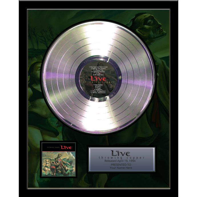 Throwing Copper Framed Platinum Record