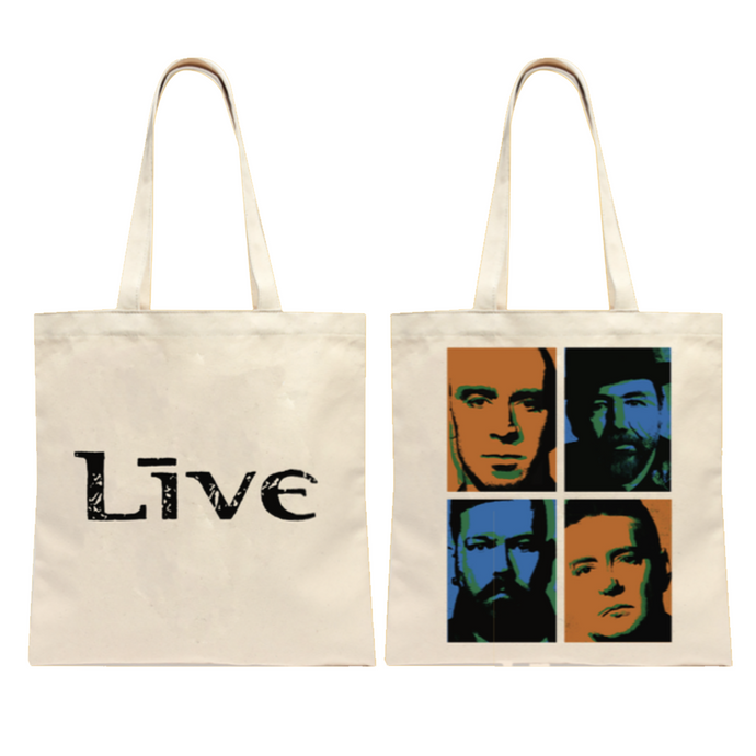 Live 4 Square Tote (Natural)