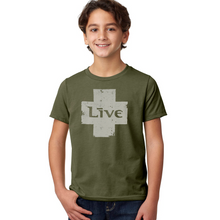 Load image into Gallery viewer, Live Logo Kid's Tee (Military Green)