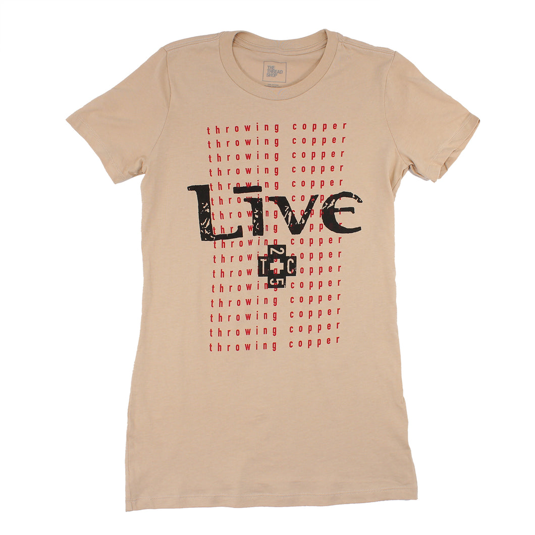 TC25 Ladies Tee (Tan)