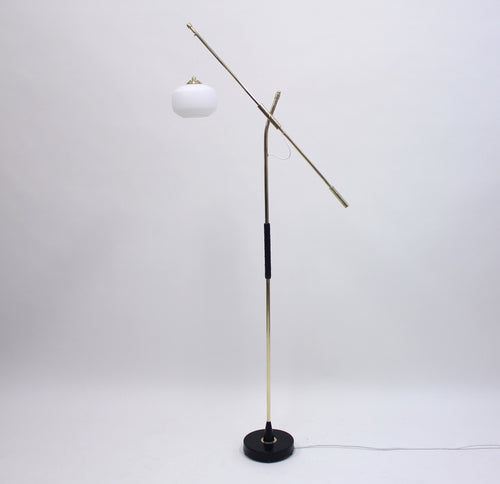 Brass Floor Lamp by Falkenbergs Belysning, 1950s