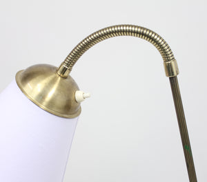 Swedish Brass and Metall Floor Lamp, 1950s