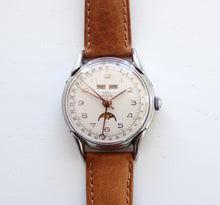 Load image into Gallery viewer, Ebel triple calendar moonphase, 35mm, 1950s