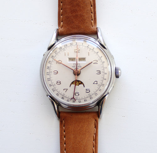 Ebel triple calendar moonphase, 35mm, 1950s
