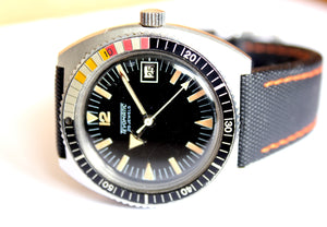 Tevomatic vintage diver, 39mm, 1970s