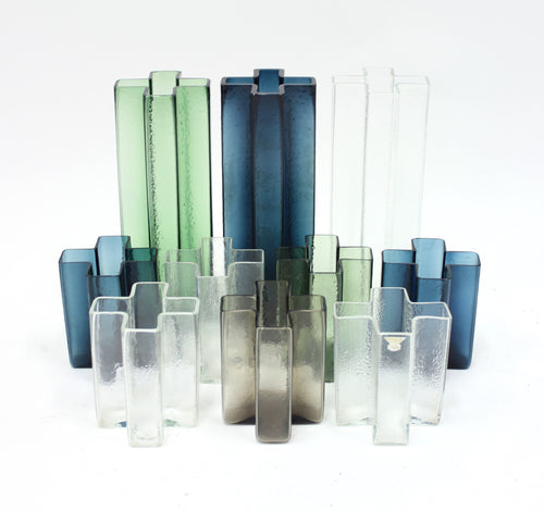 Bodil Kjaer, Cross vases for Gullaskruf, set of 10, 1960s