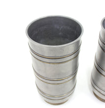Load image into Gallery viewer, Edvin Ollers, pair of pewter & brass vases, Schreuder & Olsson, 1940s