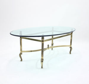 Neo classical brass coffee table, 1980s