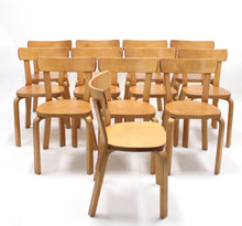 Load image into Gallery viewer, Alvar Aalto, set of 12 chairs, model 69, for Artek Hedemora, ca 1950