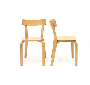 Alvar Aalto, set of 12 chairs, model 69, for Artek Hedemora, ca 1950