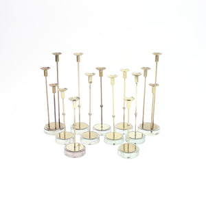 Gunnar Ander, set of 11 candle holders for Ystad Metall, 1960s