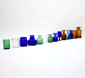 Erik Höglund, set of 14 vases for Boda, 1950s