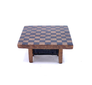 19th century rustic antique pine game board, ca 1840