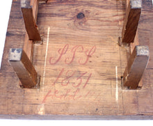 Load image into Gallery viewer, 19th century rustic antique pine game board, ca 1840