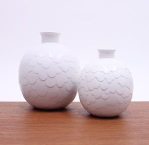 Gertrud Lönegren, rare set of 2 Capri vases for Rörstrand, 1950s
