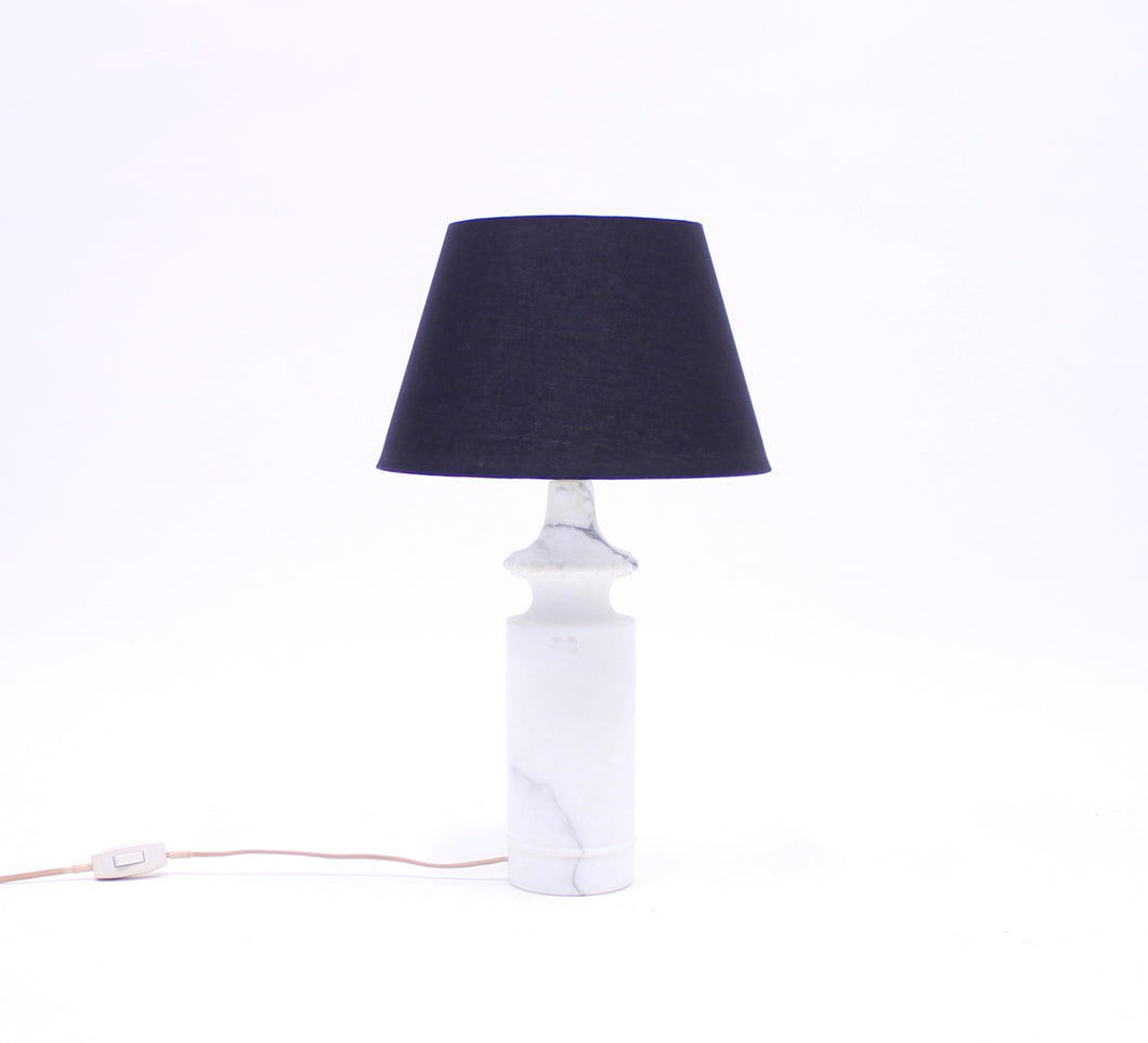 Carrara marble table lamp, attributed to Bergboms/Bitossi, 1970s