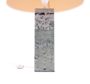 Green/grey Swedish marble table lamp, Yxhult Marmor, 1970