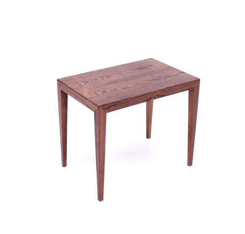 Severin Hansen, rosewood side/lamp table for Haslev, Denmark, 1960s