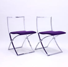 Load image into Gallery viewer, Marcello Cuneo, pair of Luisa chairs for Mobel Italia, 1970s