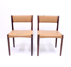 Pair of Danish rosewood chairs, 1960s