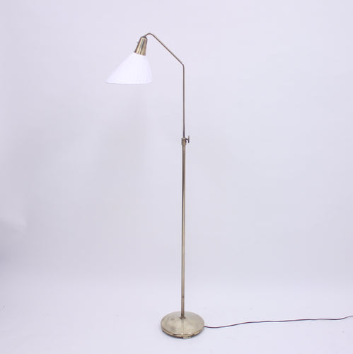 ASEA, brass floor lamp, attributed to Hans Bergström, 1950s