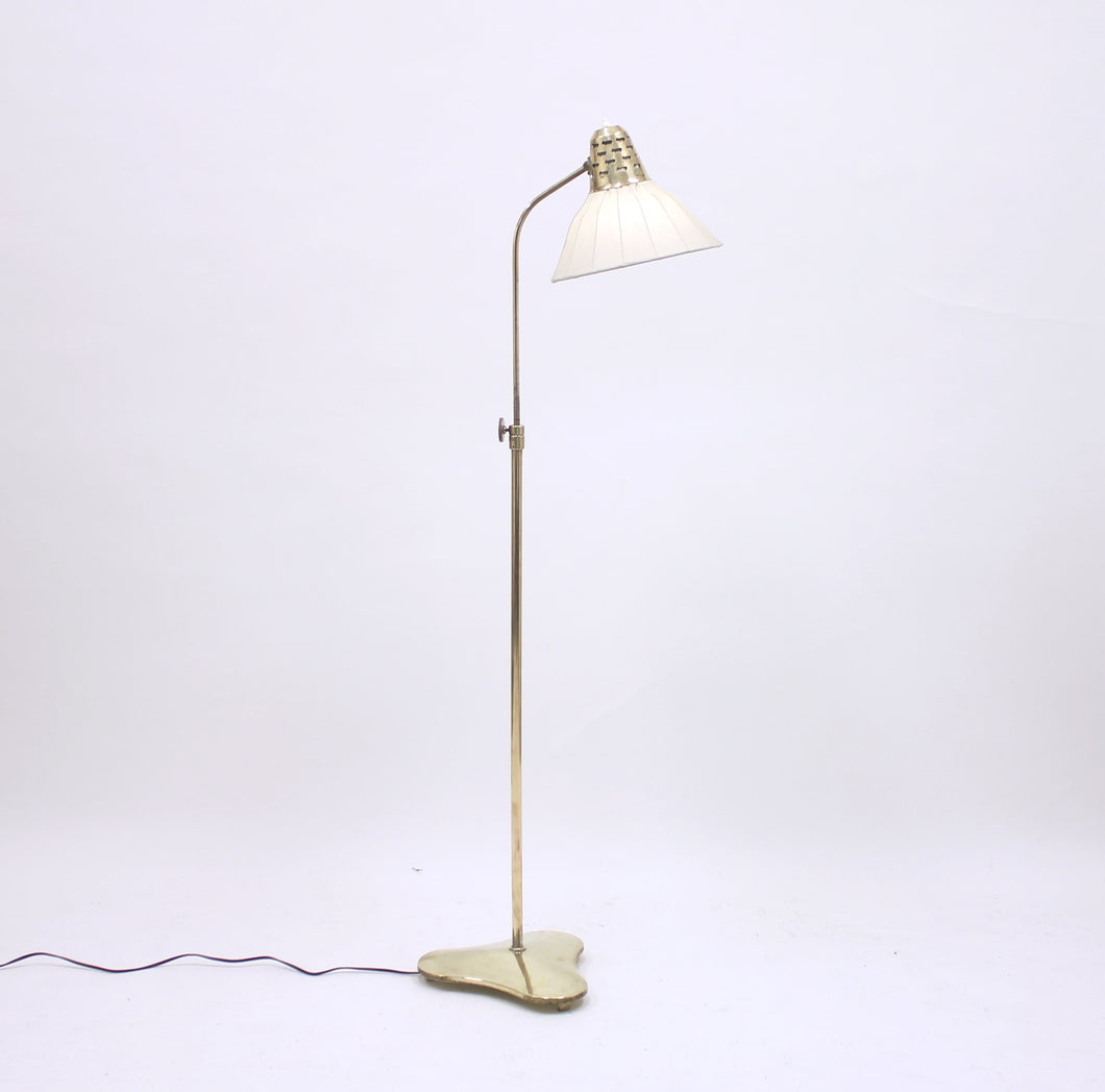 ASEA brass floor lamp, attributed to Hans Bergström, 1950s