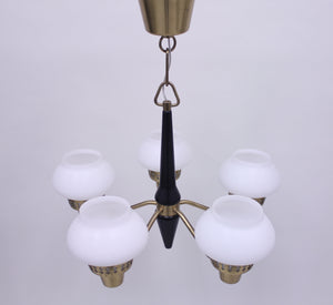 ASEA five light ceiling lamp, 1950s