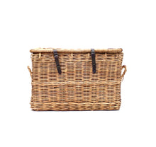 Load image into Gallery viewer, Vintage oversized mid-century wicker laundry basket, 1950s