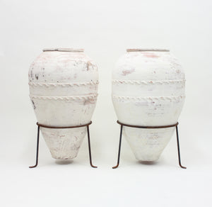 Large pair of early 20th Century Mediterranean Olive Jar, ca 1930s