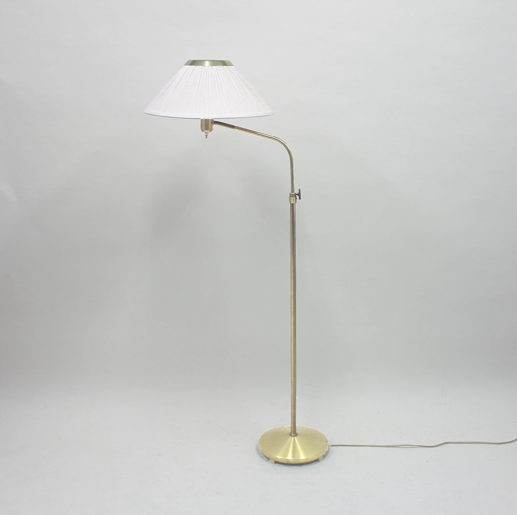 Brass floor lamp by ASEA, attributed to Hans Bergström, 1950s