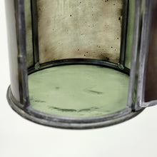 Load image into Gallery viewer, Arts & Crafts iron and glass lantern, early 20th century