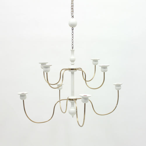 Josef Frank, chandelier for candle lights, model 2586, Svenskt Tenn, 1970s
