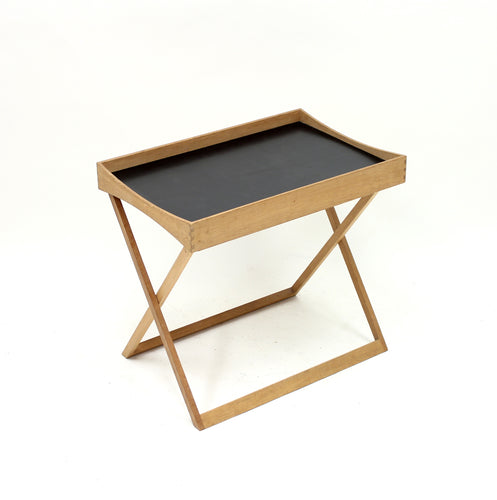 Torsten Johansson, foldable oak tray table for Bo-Ex, 1960s