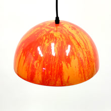 Load image into Gallery viewer, Multicoloured enamel ceiling lamp, 1970s