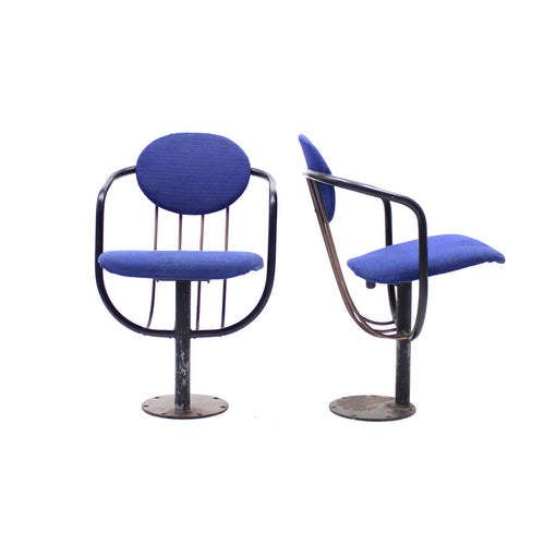 Poul Henningsen, pair of foldable theatre chairs for the Betty Nansen Theatre, 1957
