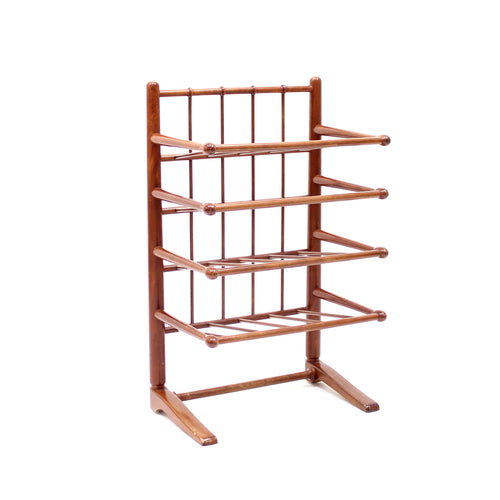 Mahogany magazine or note rack, attributed to Josef Frank, 1950s