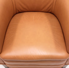 Load image into Gallery viewer, Brown leather club chair on castors, 1930s
