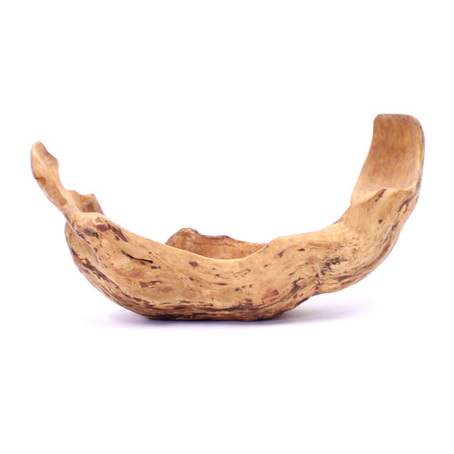 Large vintage Swedish burl bowl of birch, 1998