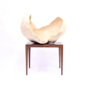 Exceptional and very large Swedish burl bowl of birch, 1984