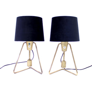 Pair of ASEA brass table- / wall lamps, 1950s