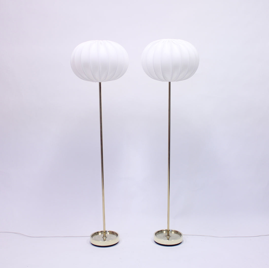 Pair of Swedish floor lamps manufactured by Fagerhult, 1960s
