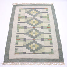 Load image into Gallery viewer, Swedish flat weave Röllakan carpet, 1950s