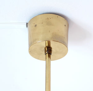 Glass & Brass Pendant by Carl Fagerlund for Orrefors, 1960s