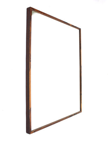 Large Swedish Rosewood Mirror from Glas & Trä, 1960s