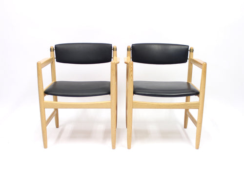Børge Mogensen armchairs model 537 for Karl Andersson & söner, set of 2