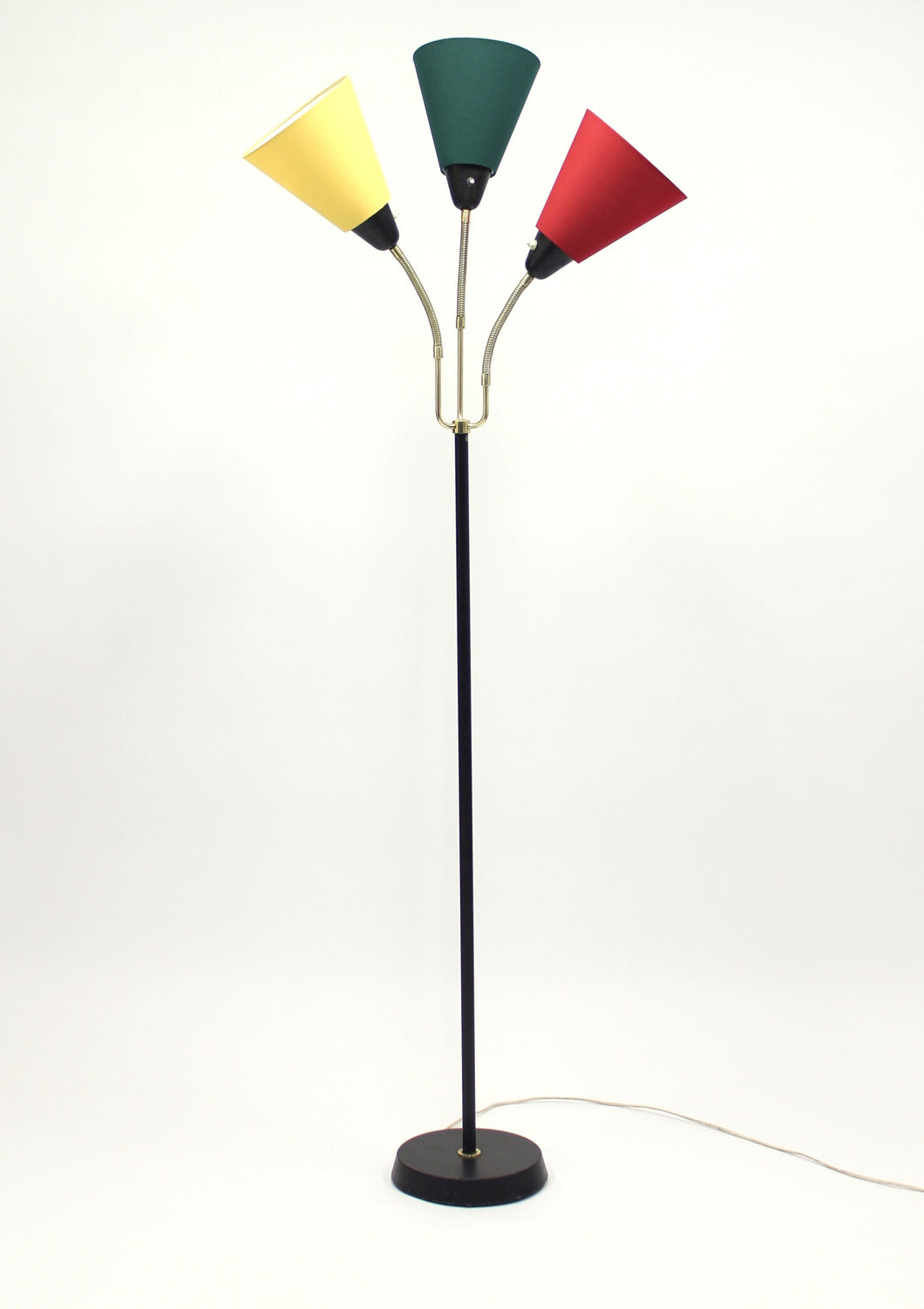 Mid-Century Swedish Three-Light Floor Lamp from AB Armaturhantverk