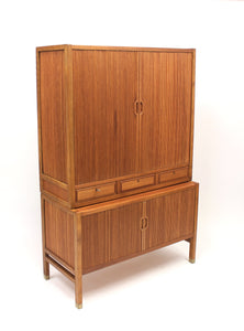 Swedish Teak Jalousie Cabinet by Carl-Axel Acking for Bodafors, 1950s