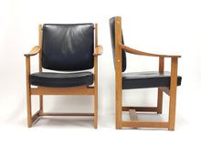 Load image into Gallery viewer, Rare pair of special commissioned Sven Kai Larsen arm chairs made by Nordiska Kompaniet, 1960s