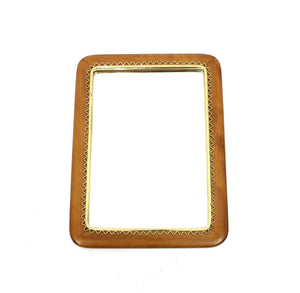 Swedish Mahogany and Brass Mirror from Svensk Hemslöjd attr. Marianne von Münchow, 1950s
